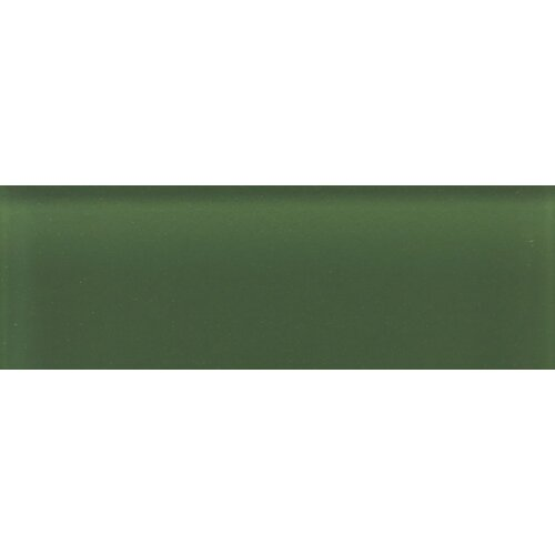 "Daltile Glass Reflections 4-1/4"" x 12-3/4"" Frosted Wall Tile in Leafy Green"