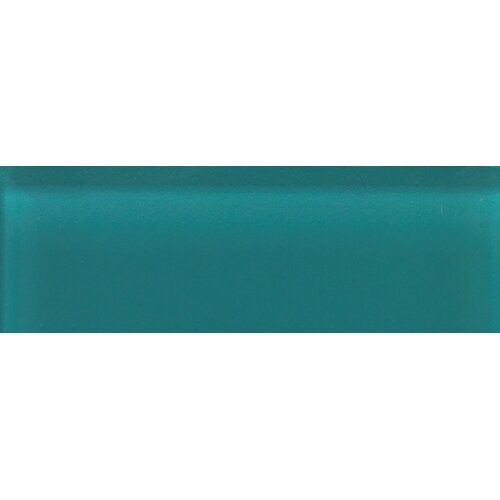 """Daltile Glass Reflections 4-1/4"""" x 12-3/4"""" Glossy Wall Tile in Almost Aqua"""