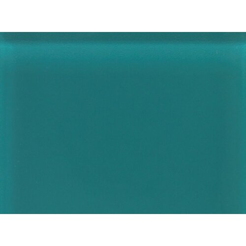 "Daltile Glass Reflections 11-1/2"" x 15-1/2"" Frosted Random Interlocking Accent in Almost Aqua"