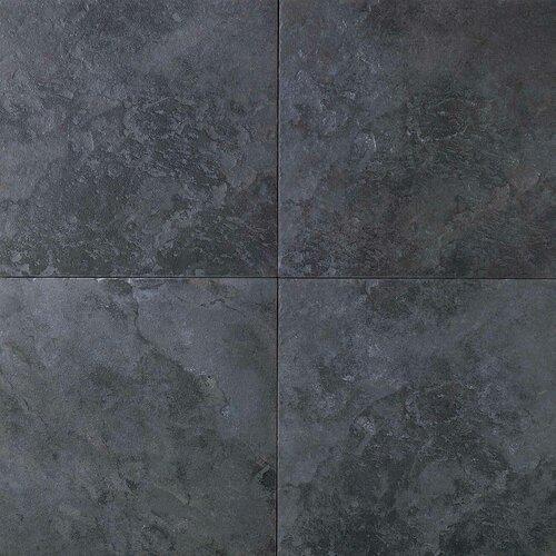"Daltile Continental Slate 6"" x 6"" Field Tile in Asian Black"