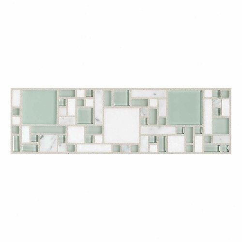 "Daltile Innova 12"" x 3"" Decorative Magic Border in Snowy Owl"