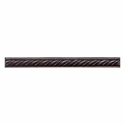 """Daltile Ion Metals 6"""" x 1/2"""" Decorative Rope Liner in Oil Rubbed Bronze"""