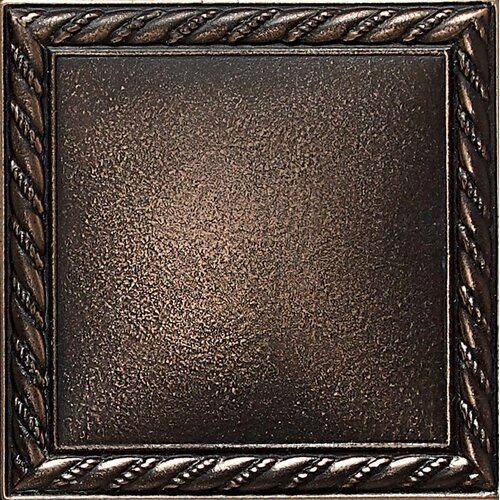 "Daltile Ion Metals 4-1/4"" x 4-1/4"" Decorative Rope Accent Tile in Antique Bronze"
