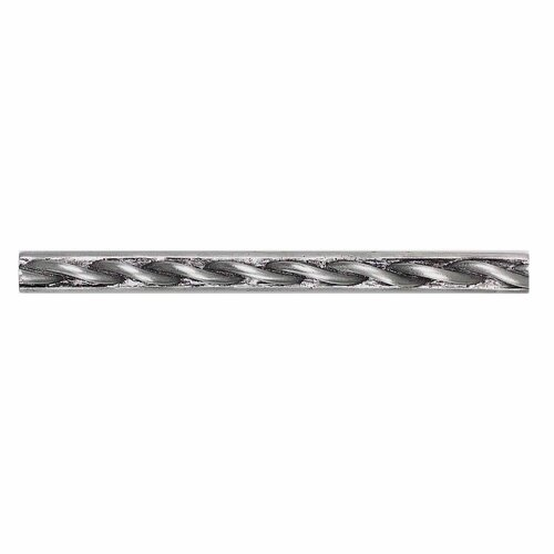 "Daltile Massalia 6"" x 1/2"" Decorative Twist Accent Strip in Pewter"