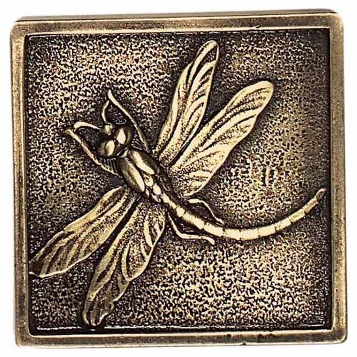 "Daltile Massalia 2"" x 2"" Decorative Dragon Fly Accent in Bullion"