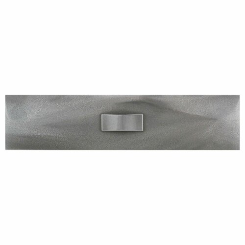 "Daltile Urban Metals 12"" x 3"" Geo Decorative Wall Liner in Stainless"