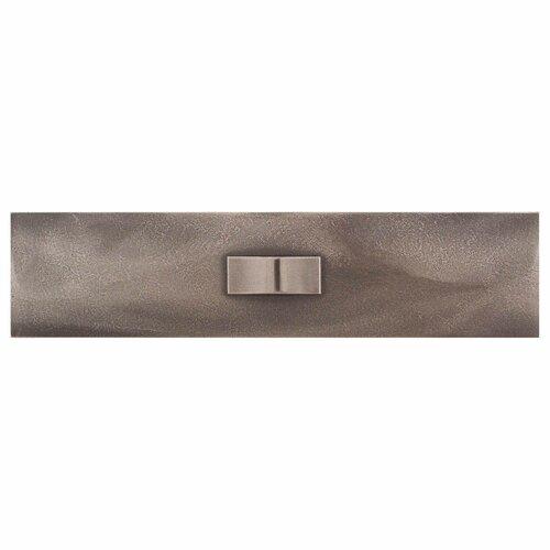 "Daltile Urban Metals 12"" x 3"" Geo Decorative Wall Liner in Bronze"