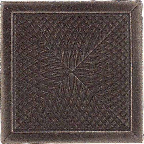 "Daltile Urban Metals 2"" x 2"" Spiral Decorative Dot in Bronze"