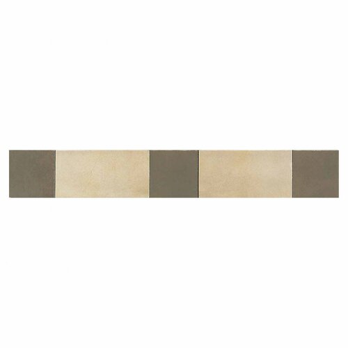 "Daltile Veranda 20"" x 3"" Decorative Border in Sand and Leather"