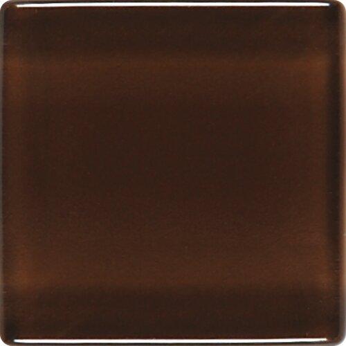 "Daltile Isis 1"" x 1"" Glass Mosaic Tile in Chocolate Sundae"