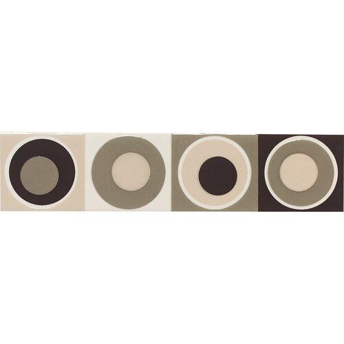 "Daltile Modern Dimensions 8-1/2"" x 2"" Concentric Circles Decorative Accent in Multi-Brown"