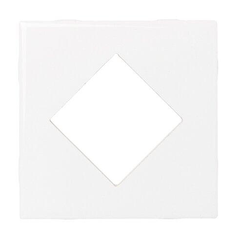 """Daltile Fashion Accents 4-1/4"""" x 4-1/4"""" Decorative Diamond Insert Tile in Arctic White"""