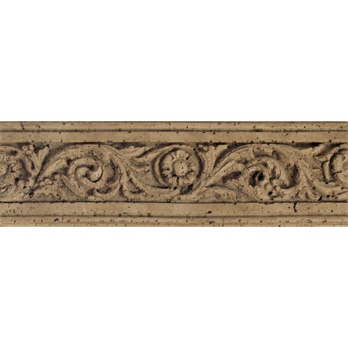 "Daltile Fashion Accents 13"" x 4"" Romanesque Decorative Listello in Flora Noce"