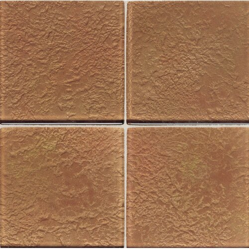 "Daltile Molten Glass 4 1/4"" x 4 1/4"" Wall Tile in Copper Mine"