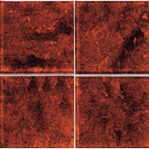 "Daltile Molten Glass 2"" x 2"" Multi-Colored Wall Tile in Volcano"