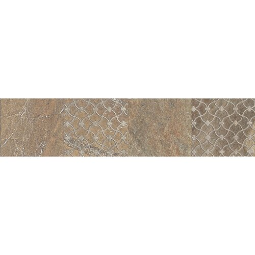 "Daltile Ayers Rock 13"" x 3"" Unpolished Decorative Border in Bronzed Beacon"