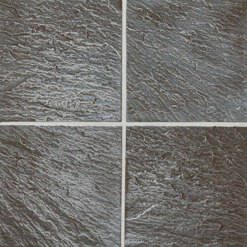 "Daltile Metal Ages 6"" x 6"" Glazed Field Tile in Clefted Pewter"