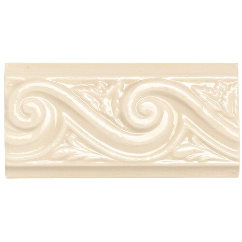 """Daltile Rittenhouse Square 6"""" x 3"""" Wave Decorative Accent in Translucent Almond"""