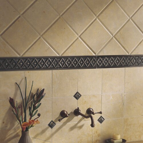 "Daltile Metal Ages 12"" x 4"" Corbel Glazed Decorative Accent in Polished Bronze"