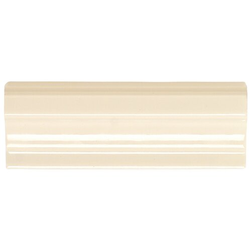 "Daltile Rittenhouse Square 2"" x 2"" Decorative Shelf Rail Corner Tile Trim in Almond"