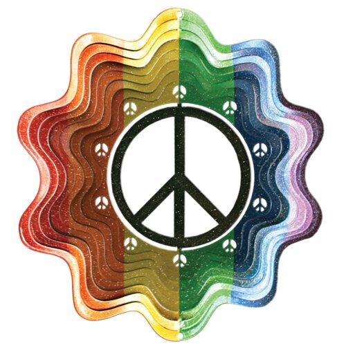 Designer Peace Sign Wind Spinner
