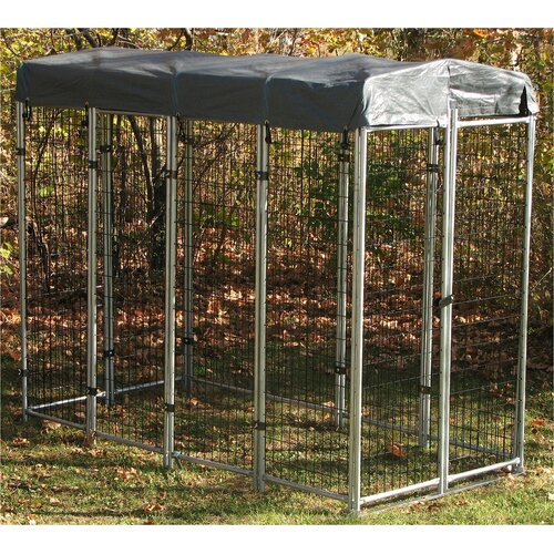 """Options Plus """"No Tools"""" Wire Folding Yard Kennel"""