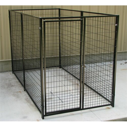 Options Plus Commercial Grade Welded Wire Heavy Duty Yard Kennel