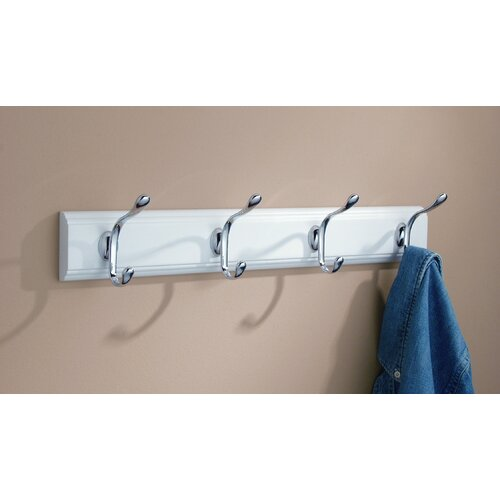 InterDesign Wall Mounted Paris Hook Rack
