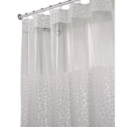 InterDesign EVA Vinyl Stone Print Long Shower Curtain
