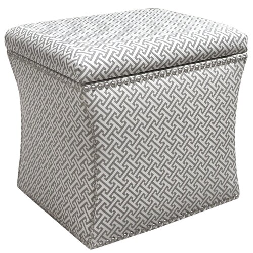 Cross Section Nail Button Storage Ottoman