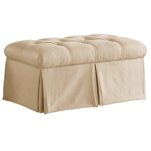Skyline Furniture Tufted Skirted Bedroom Storage Ottoman