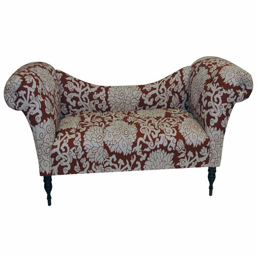 Skyline Furniture Roll Arm Cotton Chaise Lounge