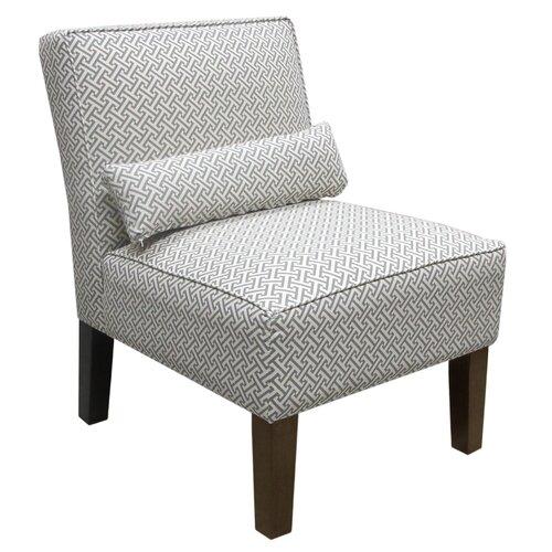 Skyline Furniture Cross Section Fabric Slipper Chair