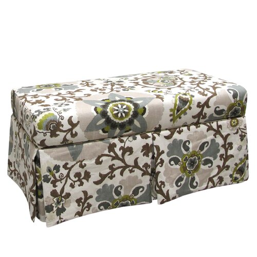 Skyline Furniture Silsila Skirted Fabric Storage Bench