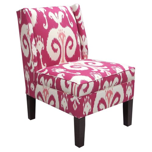 Wingback Fabric Slipper Chair
