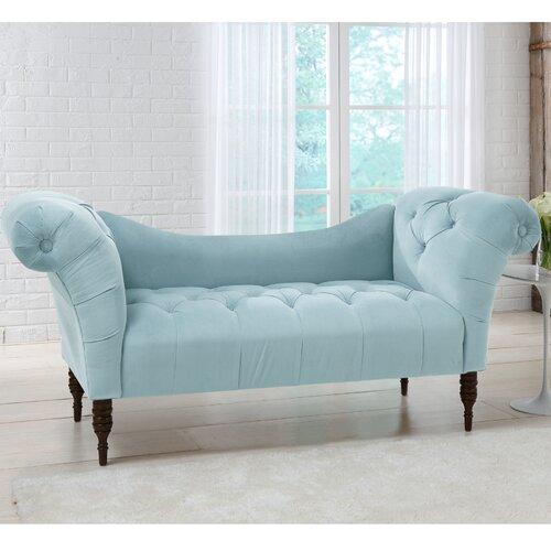 Skyline Furniture Velvet Settee Loveseat I Reviews Wayfair