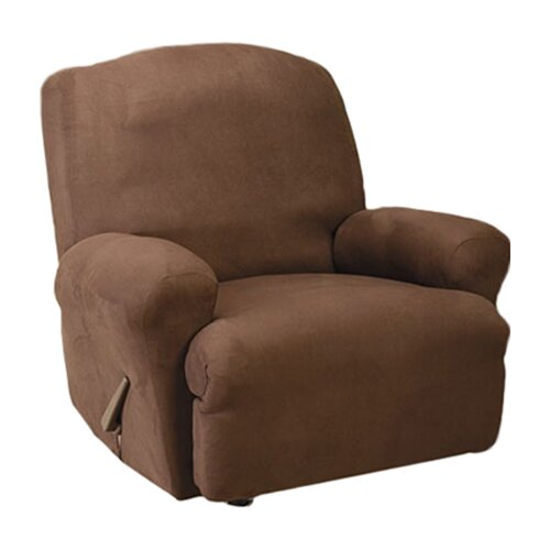 sure fit stretch suede recliner t cushion slipcover