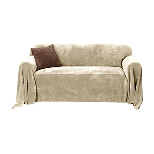 Sure-Fit Plush Throw Sofa Slipcover