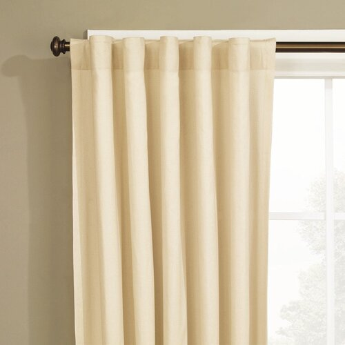 Sure-Fit Natural Fabric Duck Curtain Single Panel