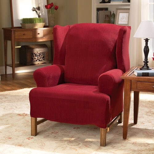 Sure-Fit Stretch Pearson Wing Chair Slipcover