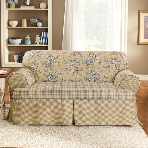 Sure-Fit Lexington Loveseat T-Cushion Slipcover