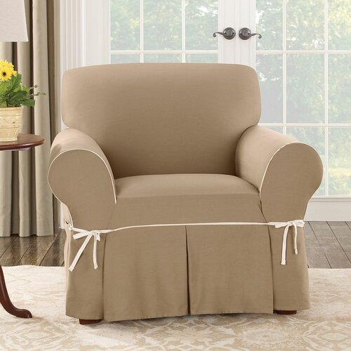 Sure Fit Cotton Duck Club Chair Slipcover & Reviews