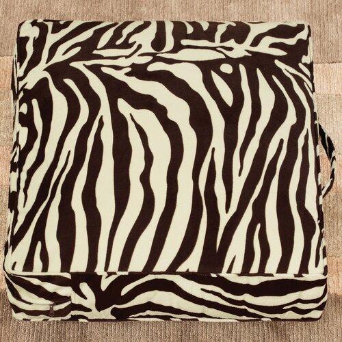 Casual Covers Velvet Zebra Floor Pillow