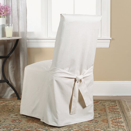sure fit cotton duck dining chair slipcover reviews wayfair