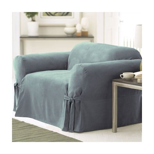 Sure-Fit Soft Suede Club Chair Slipcover