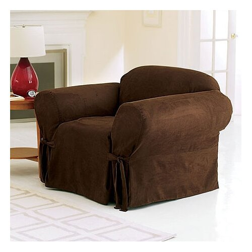 Soft Suede Club Chair Slipcover