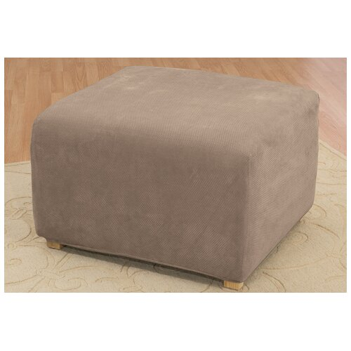 Sure-Fit Stretch Pique Ottoman Slipcover