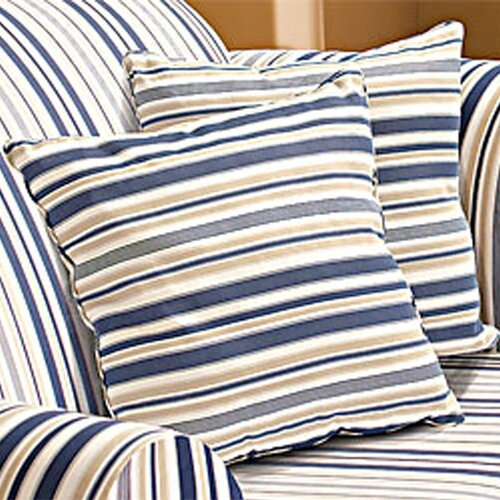 Sure-Fit Indigo Blue Stripe Corded Accent Pillow