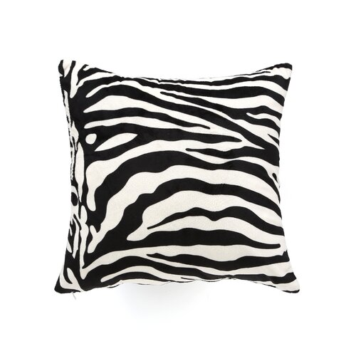 Sure-Fit Velvet Zebra Pillow