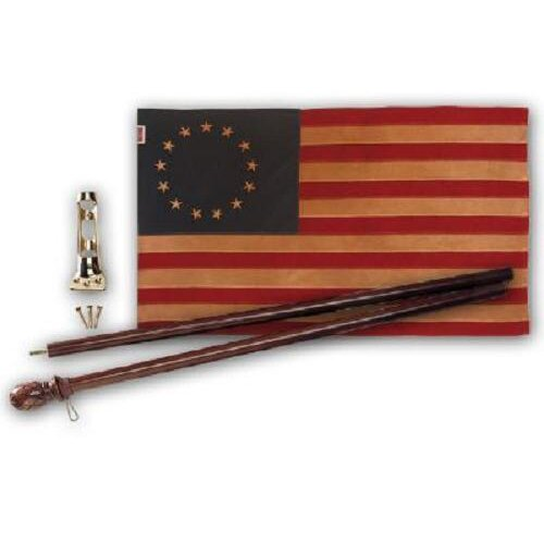 Valley Forge Flag Heritatge Series Antiqued Colonial Traditional Flag Set